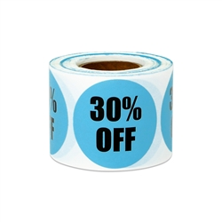 "1.5"" Round 30% OFF Retail Stickers Labels"