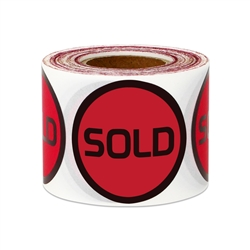 "1.5"" Round Sold Stickers Labels"