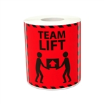 "3"" x 3"" Team Lift Warning Stickers Labels"