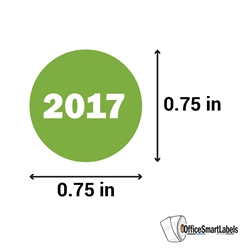 "0.75"" Year 2017 Stickers Labels"