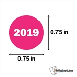 0.75 inch Year 2019 Stickers Labels