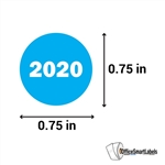 "0.75"" Year 2020 Stickers Labels"