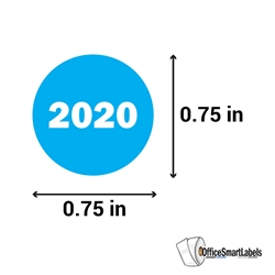 0.75 inch Year 2020 Stickers Labels