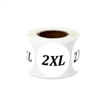 Clothing Labels Clothing Stickers XS Small Medium Large X-Large XX-Large