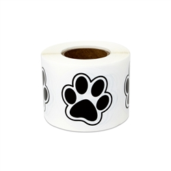 "1.5""  Paw Print Stickers Labels"