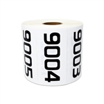 "Consecutive Number Labels Self Adhesive Stickers ""0001 to 0500"" (White Black / 1.5"" x 1"")"