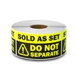 "1.5"" x 3"" Sold as Set - Do Not Separate Stickers (Yellow)"