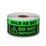 "1.5"" x 3"" Sold as Set - Do Not Separate Stickers (Green)"
