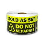 "2"" x 4"" Sold as Set - Do Not Separate Stickers (Yellow)"