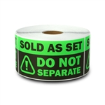 "2"" x 4"" Sold as Set - Do Not Separate Stickers (Green)"