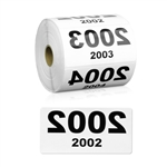 4 x 2 inch Reverse Numbered 2001-3000 Consecutive Numbers Stickers