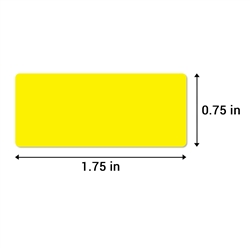 1.75 x 0.75 inch Color-Coding Inventory Labels ( Fluorescent Yellow )