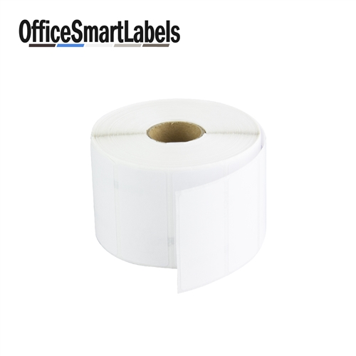 2 x 1 direct thermal labels permanent adhesive 1 inch core
