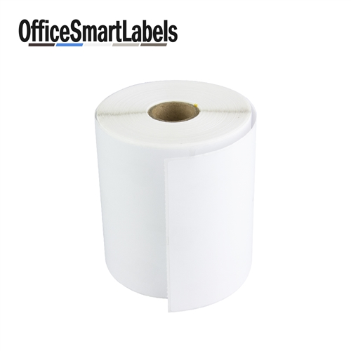 4 x 3 direct thermal labels permanent adhesive 1 inch core