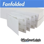 "4"" x 8"" Fanfolded Direct Thermal Labels ( Permanent Adhesive - Fanfold )"