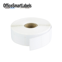 "1"" x 1"" Removable Direct Thermal Labels ( Permanent Adhesive - 1 Inch Core )"