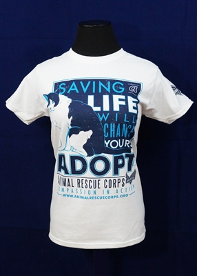 Saving a Life Will Change Yours w/Cat Women's T-Shirt