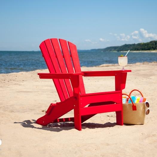 Polywood Palm Coast Folding Adirondack Chair · Larger Photo Email A Friend