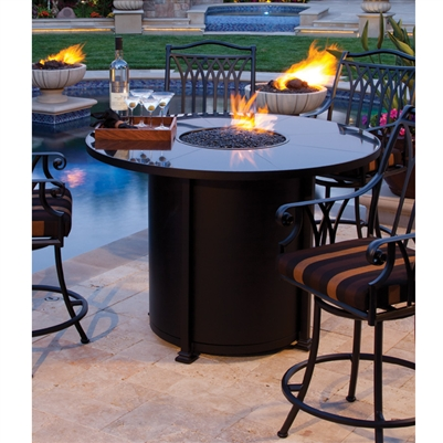 Fire Pit OW Lee Santorini Counter Heightfire Pits Lubbock Fire Pits - Counter height patio table with fire pit