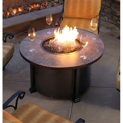 Larger Photo Email A Friend - Fire Pit OW Lee 42 Santorini Iron Round 51-08A