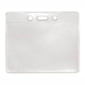 "Brady Single Compartment Holder with Two Attachment Holes, Clear Vinyl, Smooth Texture, 3 5/8"" x 2 15/16"", Bag of 100, PIECED and SOLD in Full Bags Only Graphic"