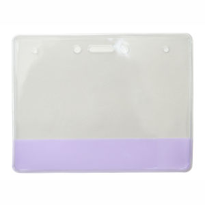 "Brady Yellow Horizontal Vinyl Color Badge Holder, Extra Large Size, 3 3/8 x 4-1/4"". SOLD in Packs of 100 Graphic"