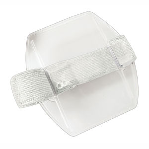 Brady Arm Band Badge Holder - Vertical, White, SOLD IN PACKS OF 25, Priced PER Pack Graphic