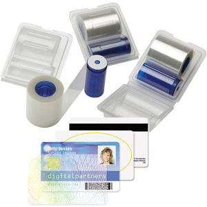 "Datacard DuraGard 1.0 mil Overlaminate - Holographic ""Secure Globe"" Graphic"