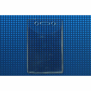 Brady Clear Vinyl, Vertical Event Badge Holder with Slot and Chain Holes, SOLD 100 Per Pack, Priced PER Pack Graphic