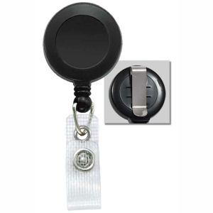 Brady Economy Badge Reel with Vinyl Strap and Slide Clip, Bag of 25, PIECED and SOLD in Full Bags Only Graphic