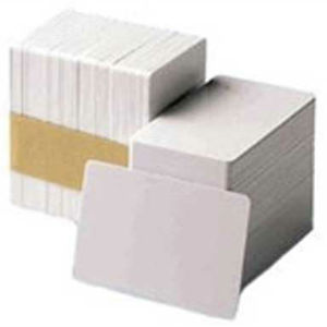 Datacard Card 500pc 803229-024, Plastic, CR80/030, PVC Graphics, White with 1/2 in. Lo-Co Magnetic Stripe Graphic