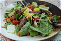 #19 Garden Salad with Grilled Sirloin Steak Tips