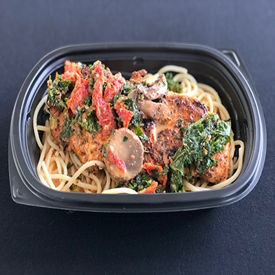 #10 Tuscan Chicken over Gluten Free Pasta