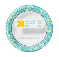 Heavey Duty Paper Bowls (354ML), 40 CT