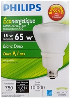 PHILIPS EnergySaver Reflector CFL 15W R30 Bulb, Pack of 1