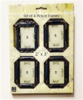 Alco - Set of 4 Picture/Photo Frames 2x3 in