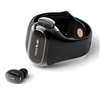 WEARBUDS Smartband-Stored True Wireless Earbuds Charged on Your Wrist, Shiny Black