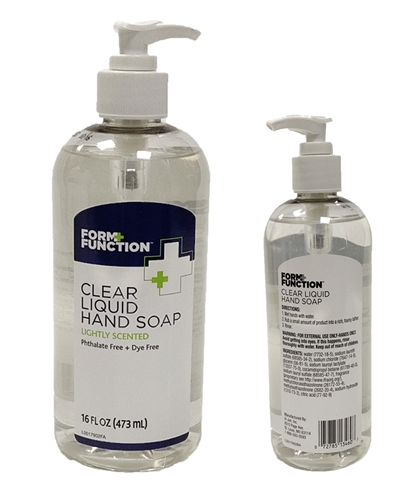 Form+Function Clear Liquid Hand Soap 473ml