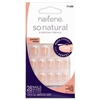 Nailene so natural EVERYDAY FRENCH Glue Adhesive Tabs Manicure 28 Nails