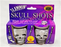 Rubie's Halloween Skull Shot Glasses - 2 pcs
