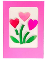 GelGems Heart Flowers Greeting Card