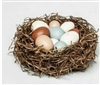 Threshold Table Decor Spring Easter Bird Nest with 10 Eggs