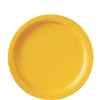 Party Supplies 20/24 Round Plates - Yellow
