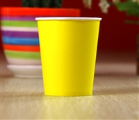 Party Supplies 12 Paper Cups - Yellow