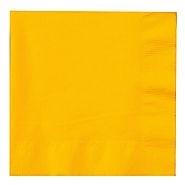 Party Supplies 20 Napkins - Yellow