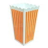 Plastic Popcorn Container, Orange, Set of 2
