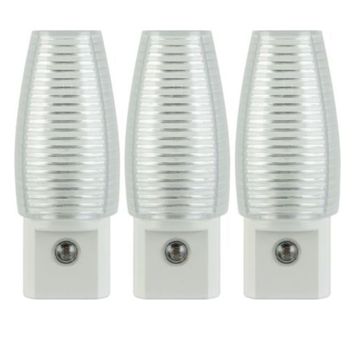 Great Value Incandescent / LED Night Light, Pack of 3