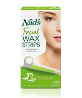 Nad's Facial Wax Strips - 24 CT