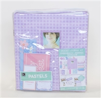 K&COMPANY POCKET JOURNAL AND SCRAPBOOK KIT, 8.5 BY 11-INCH PASTELS