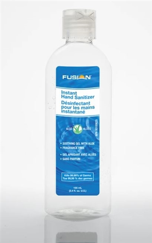 Fusion - 70% Alcohol Instant Hand Sanitizer, 100ML (3.4 fl.oz)